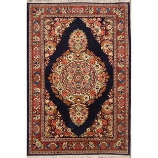 "Sarouk Persian Hand Made Wool Traditional Floral Area Rug - 7'3"" x 4'7"""