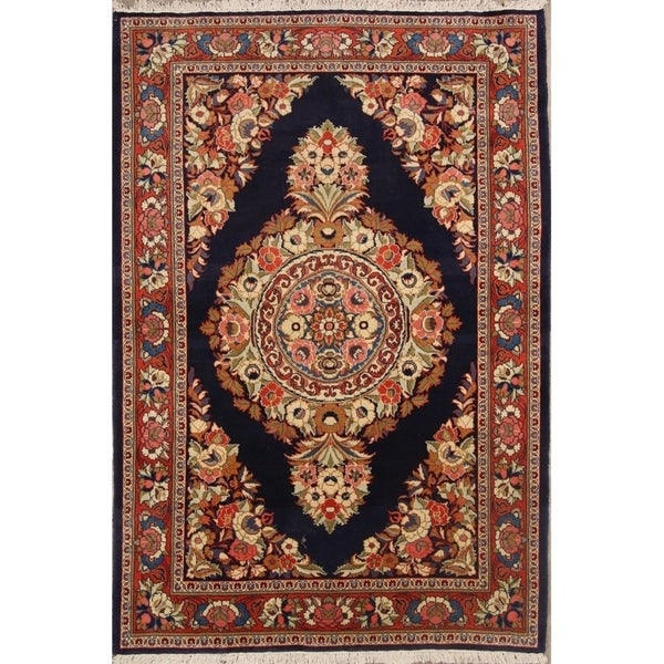 """Sarouk Persian Hand Made Wool Traditional Floral Area Rug - 7'3"""" x 4'7"""""""
