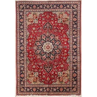 "Hand Made Traditional Tabriz Persian Oriental Geometric Area Rug - 10'0"" x 6'11"""