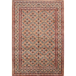 """Mood Hand Knotted Woolen Geometric Area Rug Persian Brown - 9'10"""" x 6'10"""""""