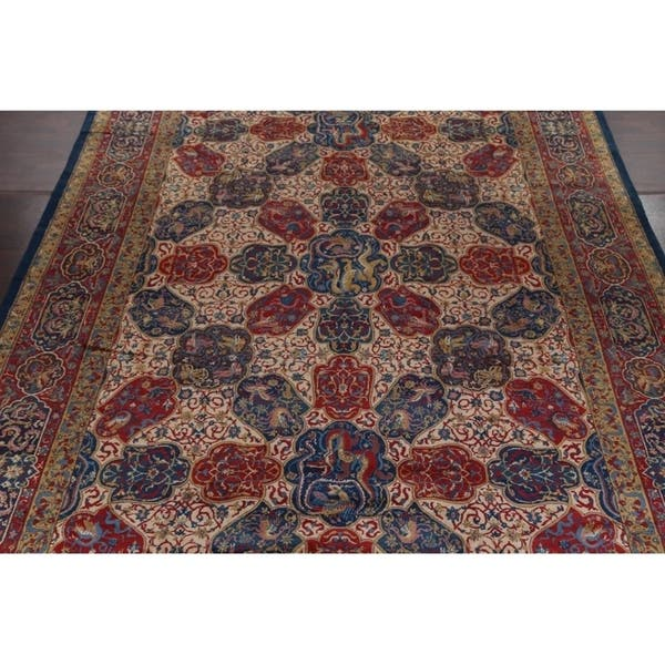Antique Agra Taj Mahal Oriental Hand Knotted Wool Floral Area Rug 16 6 X 12 0 On Sale Overstock 26266318