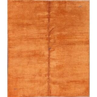 "Hand Made Traditional Gabbeh Shiraz Persian Area Rug - 7'10"" x 6'7"""