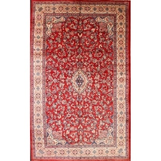 "Mahal Traditional Hand Made Wool Persian Medallion Area Rug - 16'1"" x 10'0"""