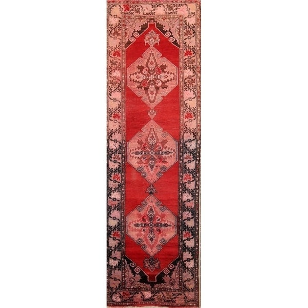 """Antique Hand Made Wool Yahyali Oushak Turkish Traditional Rug - 10'7"""" x 3'6"""" runner"""
