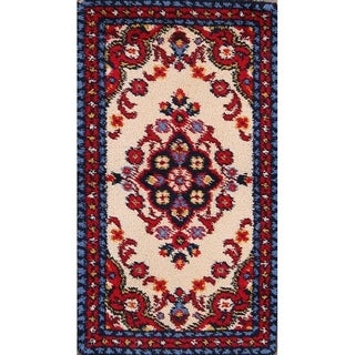 "Rya Sweden Oriental Floral Hand Knotted Wool Floral Area Rug - 4'7"" x 2'7"""