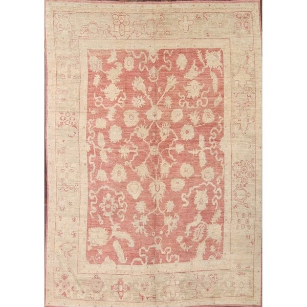 "Oushak Traditional Turkish Classical Oriental Handmade Floral Area Rug - 13'6"" x 9'6"""