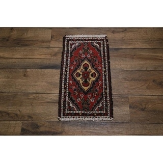 """Hand Knotted Wool Hamedan Traditional Persian Area Rug Tribal - 2'3"""" x 1'3"""""""