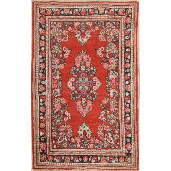 "Vintage Hand Made Traditional Mahal Sarouk Persian Floral Area Rug - 6'9"" x 4'3"""