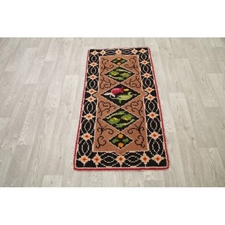"""Hand Knotted Kazak Traditional Classical Oriental Area Rug Beige - 4'5"""" x 2'3"""""""