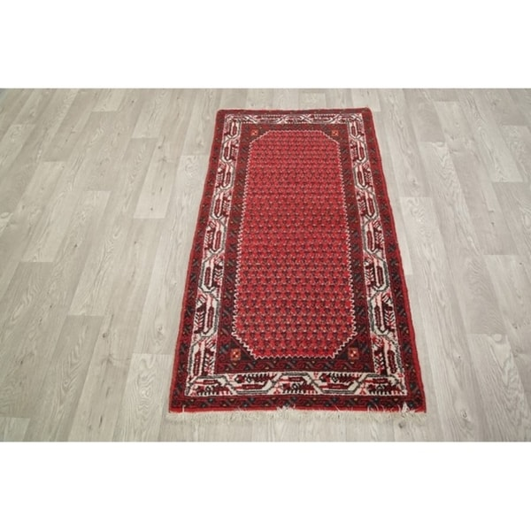 "Hamedan Hand Made Wool Persian Traditional Classical Tribal Rug - 4'11"" x 2'7"""
