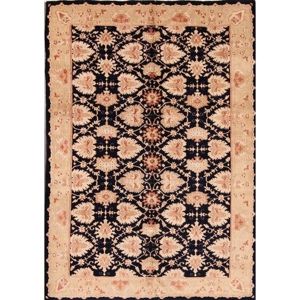 "Tabriz Traditional Wool Persian Handmade Area Rug Vintage Black - 6'1"" x 8'8"""