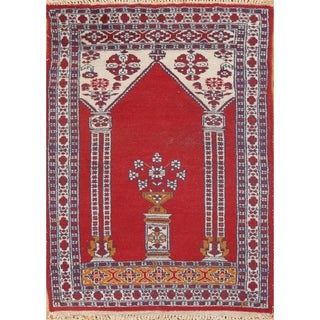 Hand Knotted Wool Anatolian Turkish Traditional Oriental Area Rug - 3' x 2'1""