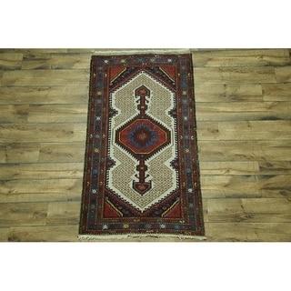 "Vintage Hand Made Traditional Hamedan Persian Traditional Area Rug - 5'11"" x 3'5"""