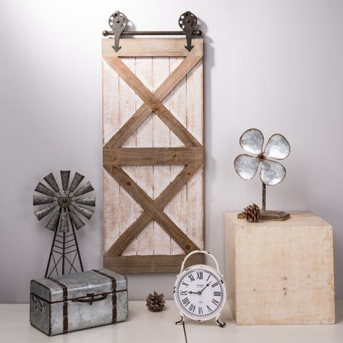 Glitzhome Farmhouse Wooden Barn Door