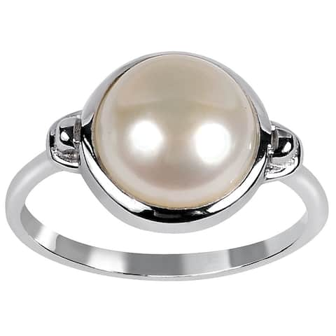 Orchid Jewelry Sterling Silver Freshwater Pearl Ring By Orchid Jewelry