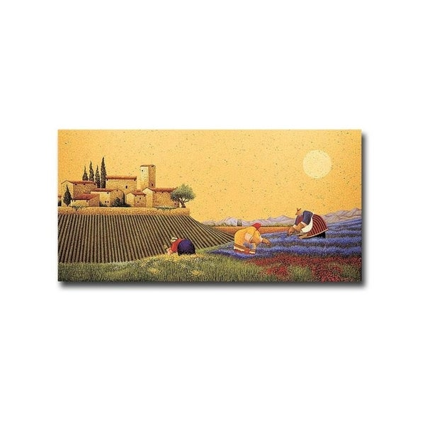 Hillside Flowers by Lowell Herrero Gallery Wrapped Canvas Giclee Art (18 in x 36 in, Ready to Hang)