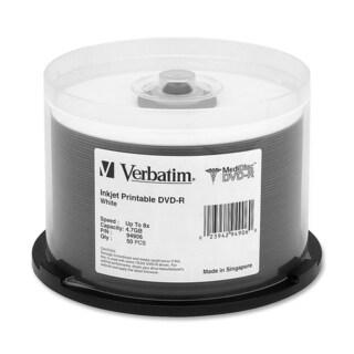 Verbatim MediDisc DVD-R 4.7GB 8X White Inkjet Printable with Branded