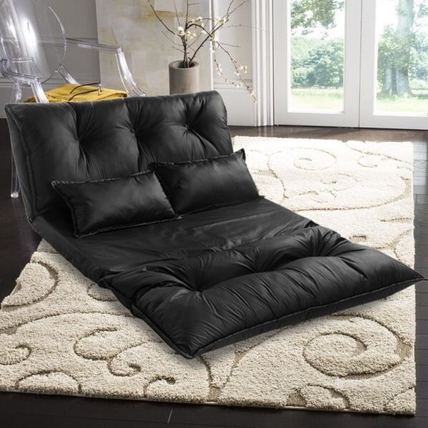 Shop Merax Pu Leather Foldable Floor Sofa With Two Pillows Free