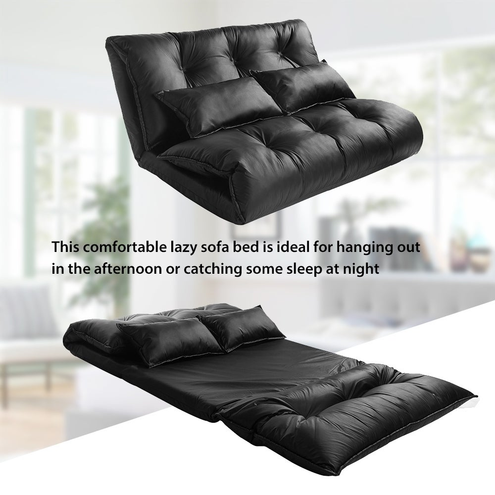 Floor Sofa Bed Leather Adjule Futon