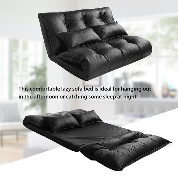 Fine Shop Merax Pu Leather Foldable Floor Sofa With Two Pillows Andrewgaddart Wooden Chair Designs For Living Room Andrewgaddartcom