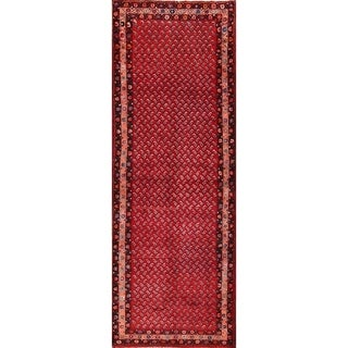 """Hand Knotted Wool Botemir Boteh Geometric Traditional Persian Rug - 9'6"""" x 3'5"""" runner"""