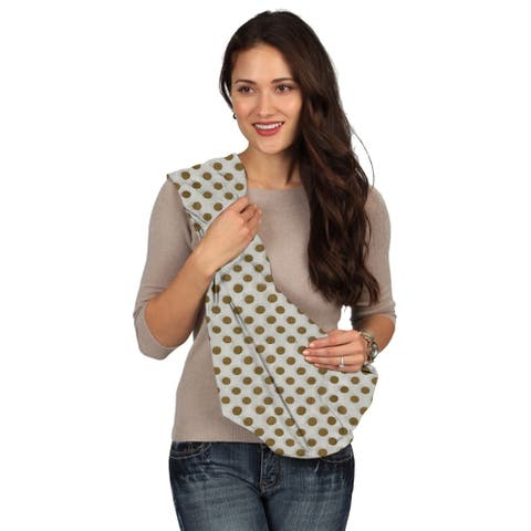 Karma White with Golden Dot Breathable Cotton Fabric Baby Sling - Large