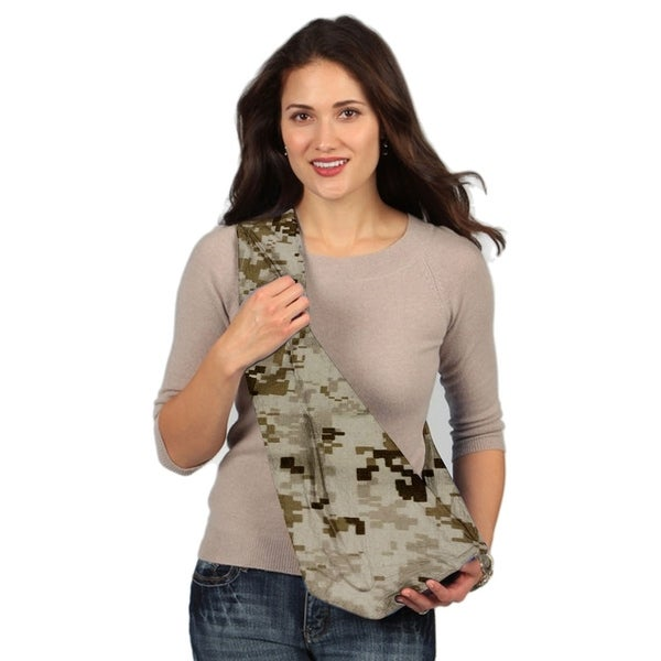 Karma Camouflage Brown Breathable Cotton Fabric Military Baby Sling - Large