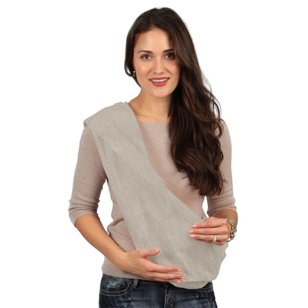 fe09b63c457 Shop Karma Grey Breathable Cotton Fabric Baby Sling - Extra Large - Free  Shipping On Orders Over  45 - Overstock - 26268531
