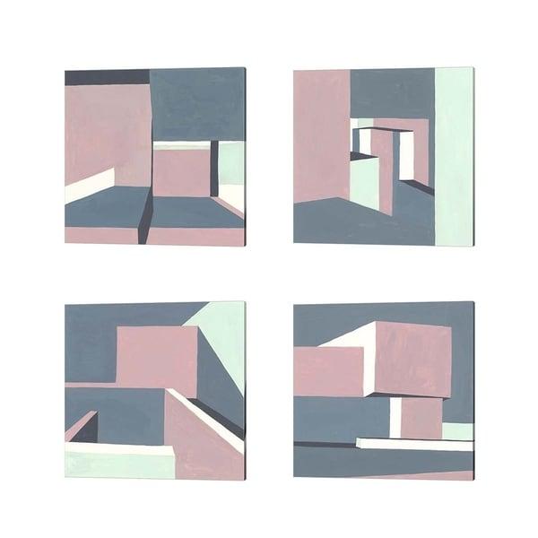 Melissa Wang 'Shadow of the Walls' Canvas Art (Set of 4)