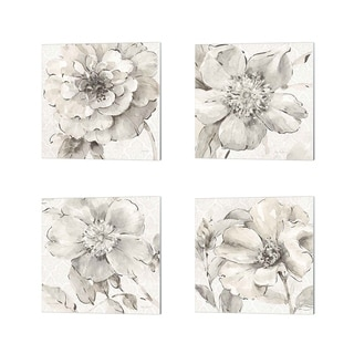 Lisa Audit 'Indigold Gray' Canvas Art (Set of 4)
