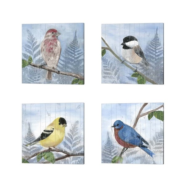 Alicia Ludwig 'Eastern Songbird' Canvas Art (Set of 4)