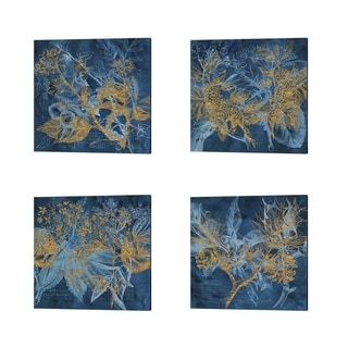 Tina Lavoie 'Teal Garden' Canvas Art (Set of 4)