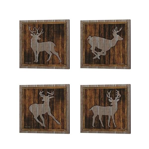 Cindy Jacobs 'Deer Silhouette & Running' Canvas Art (Set of 4)
