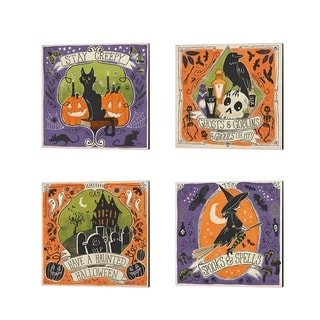 Janelle Penner 'Stay Creepy' Canvas Art (Set of 4)