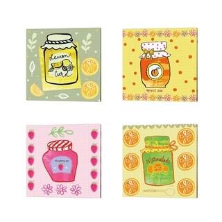 Farida Zaman 'Pretty Jams and Jellies' Canvas Art (Set of 4)