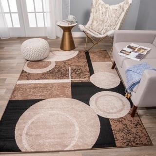 Abstract Circles Design Area Rug