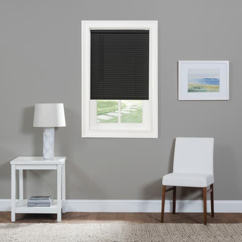 "ACHIM Cordless GII Morningstar Black 1"" Light Filtering Mini Blind"