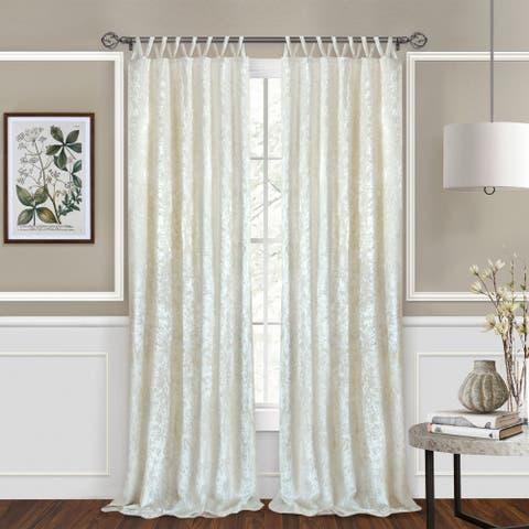 Silver Orchid Griffith Criss-cross Window Curtain Panel