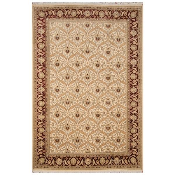 Handmade Tabriz Wool and Silk Rug (Pakistan) - 6'2 x 9'4