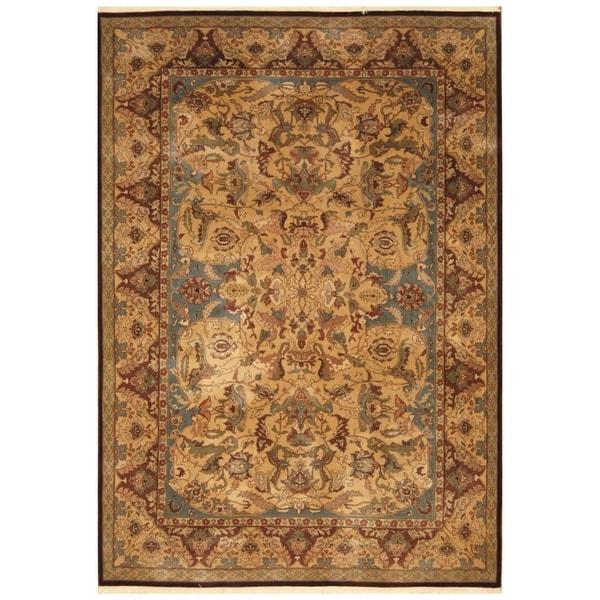 Indo Persian Tabriz Wool Area Rug: Shop Handmade Herat Oriental Indo Hand-knotted Tabriz Wool
