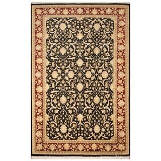 Handmade Tabriz Wool and Silk Rug (Pakistan) - 6'2 x 9'6