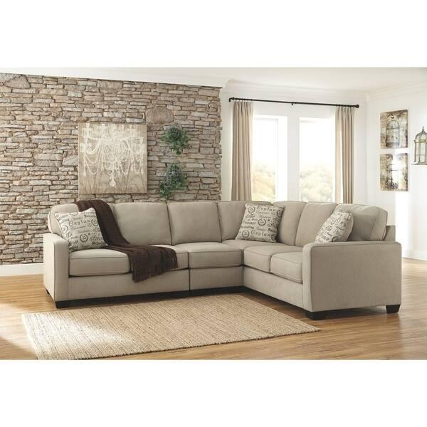 Superb Shop Alenya 3 Piece Quartz Sectional On Sale Free Lamtechconsult Wood Chair Design Ideas Lamtechconsultcom