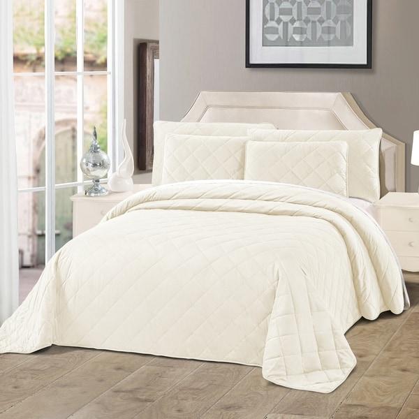 Serenta Velvet Quilts 5 Piece Ultra Soft Floor Touching Bedspread Set. Opens flyout.