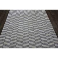 Silver White 5x7 Patchwork - 5' x 7'