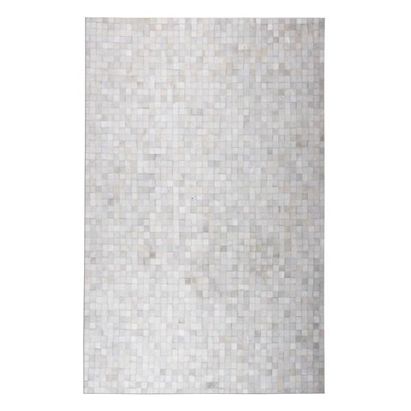 Checkered White 5x7 Patchwork - 5' x 7'