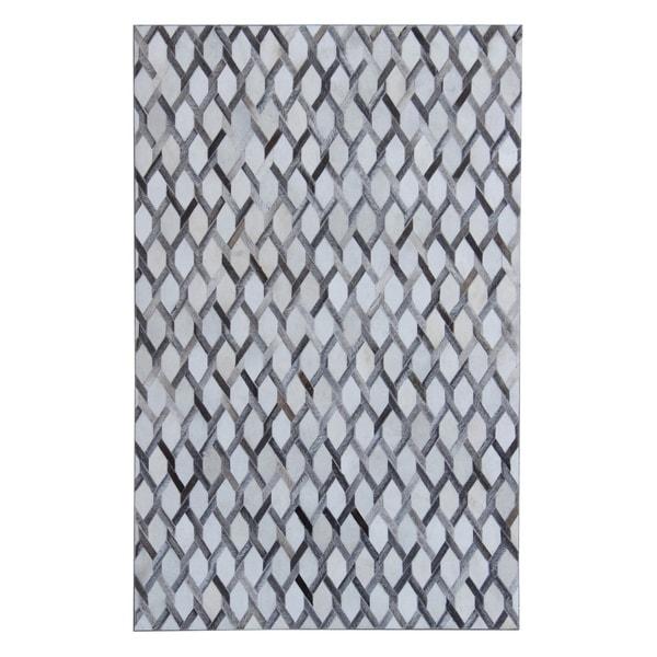 5x7 Patchwork Grey White - 5' x 7'