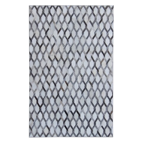 5x7 Patchwork Grey White - 5' x 7'