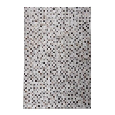 Checkered Grey 5x7 Patchwork - 5' x 7'