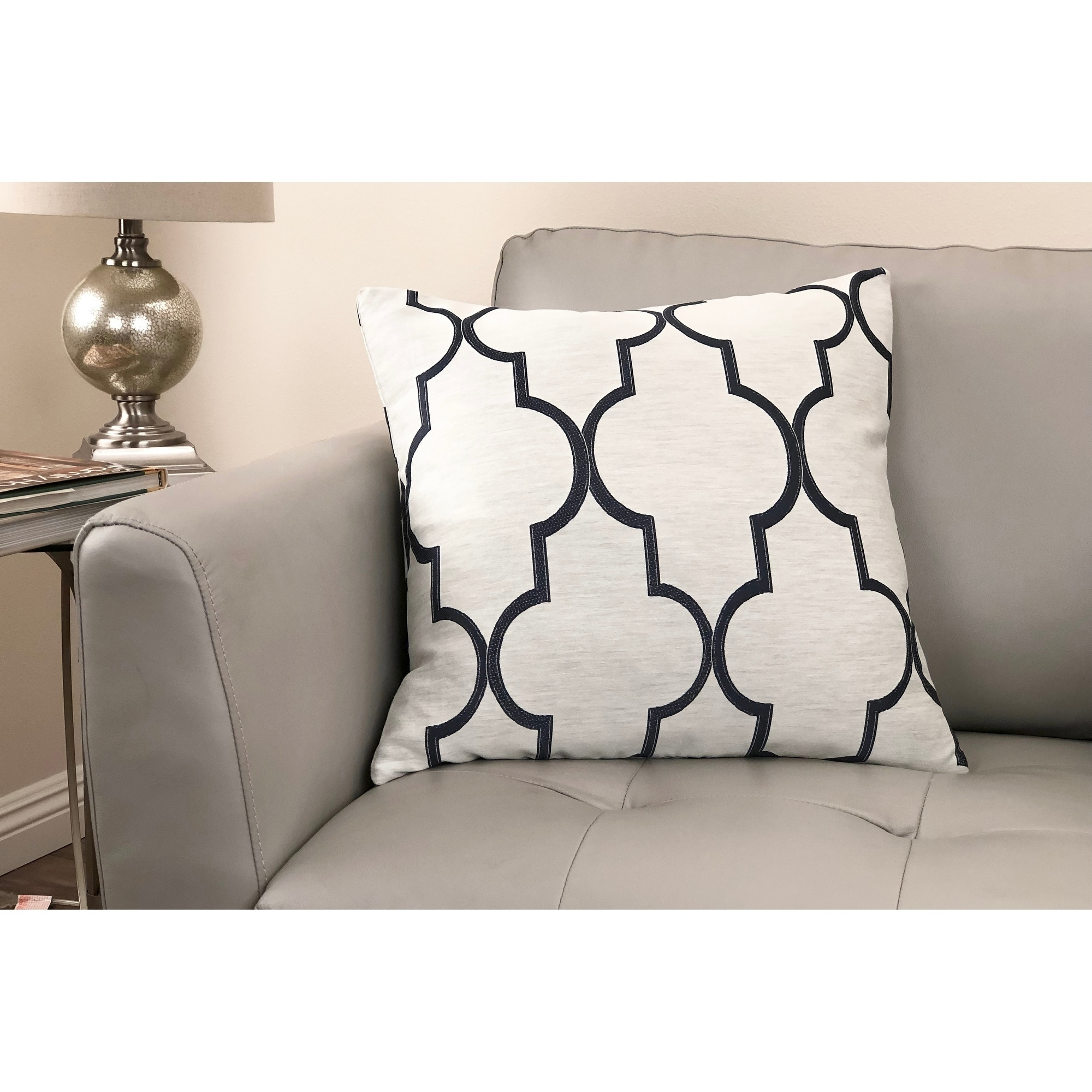 Paxton Contemporary Decorative Feather and Down Throw Pillow
