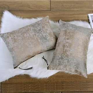 Link to The Curated Nomad Peralta 2-piece Jacquard Chenille Zipper Lumbar Pillow Set Similar Items in Decorative Accessories